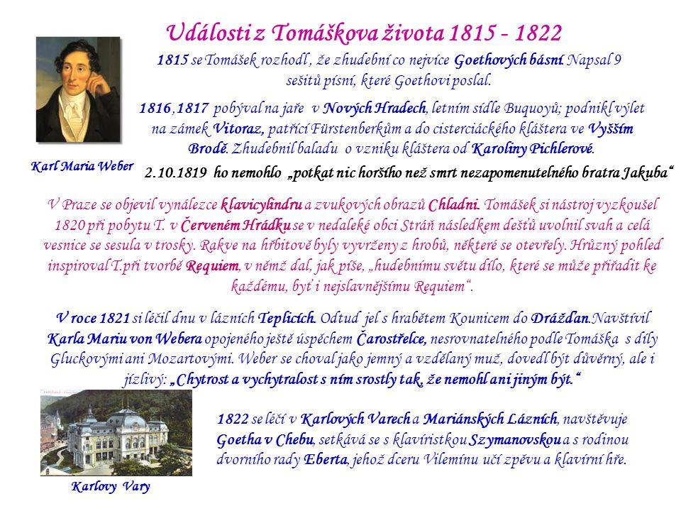Události z Tomáškova života 1815 - 1822