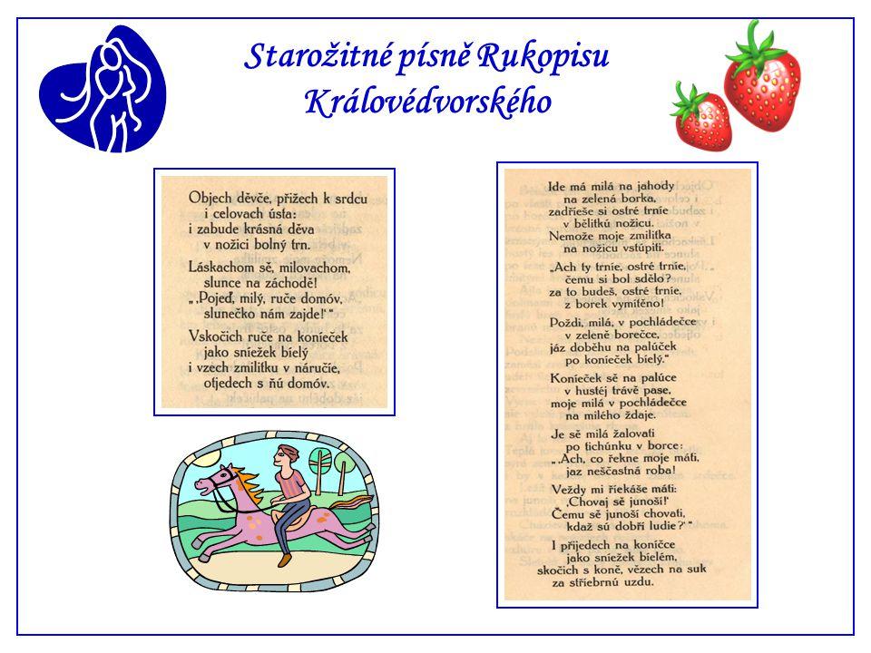 Starožitné písně Rukopisu