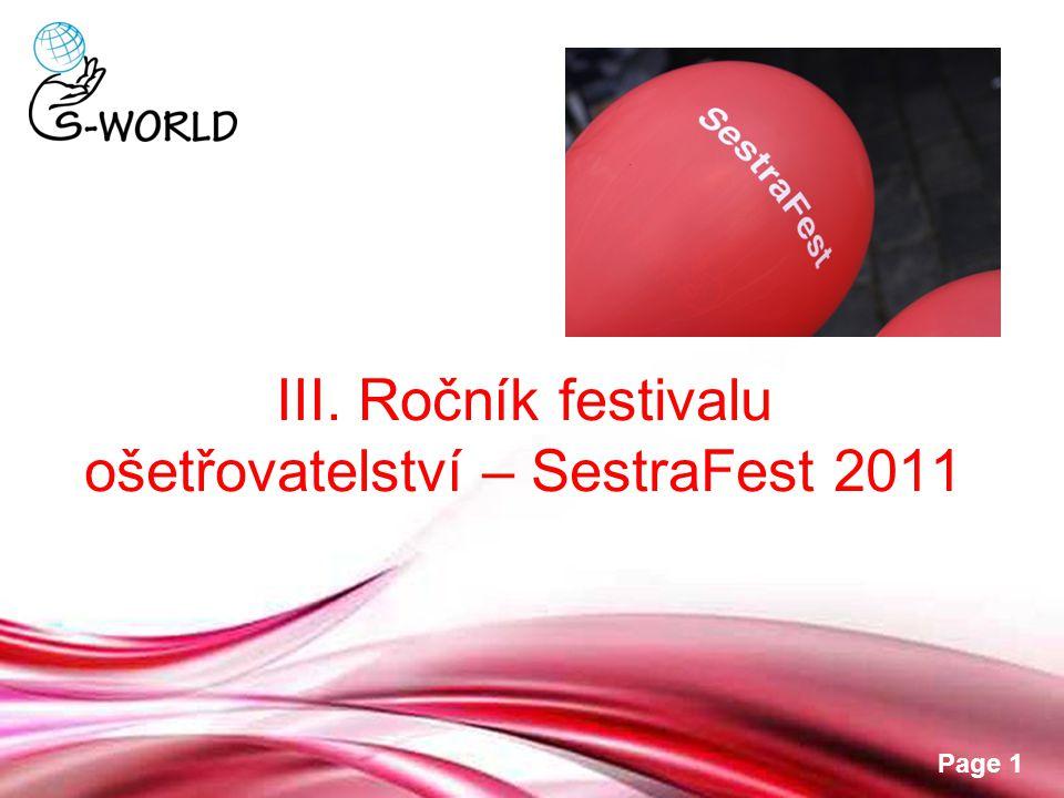 III. Ročník festivalu ošetřovatelství – SestraFest 2011