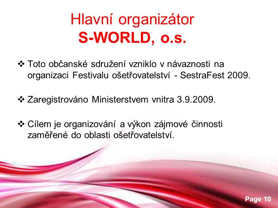 Hlavní organizátor S-WORLD, o.s.