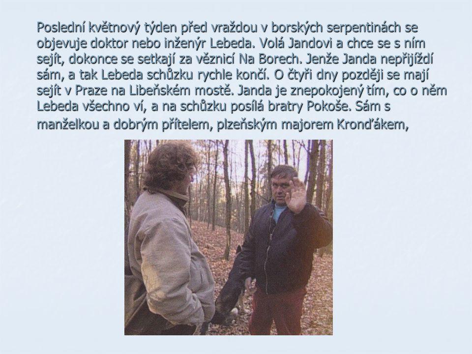 Poslední květnový týden před vraždou v borských serpentinách se objevuje doktor nebo inženýr Lebeda.