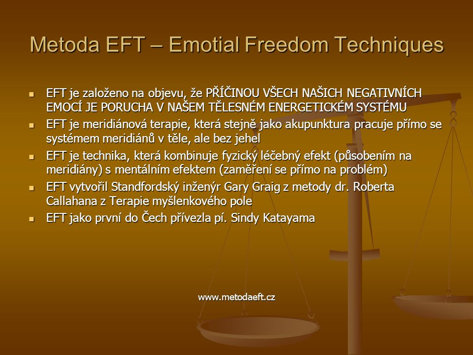 Metoda EFT – Emotial Freedom Techniques