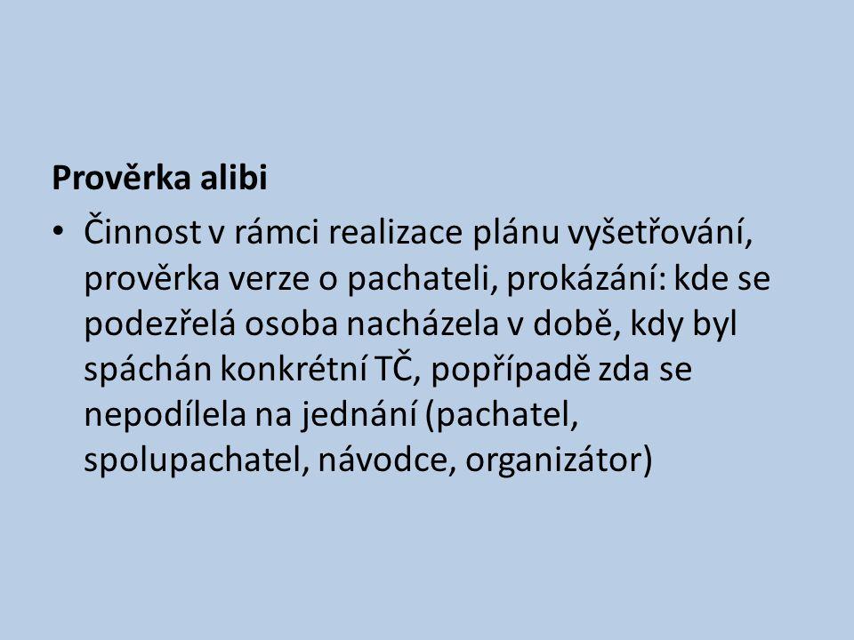 Prověrka alibi