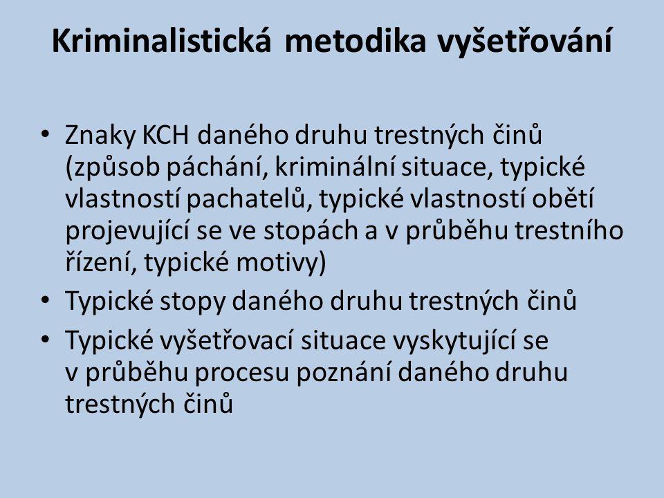 Kriminalistická metodika vyšetřování