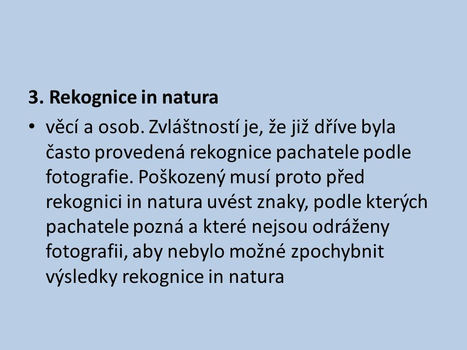 3. Rekognice in natura