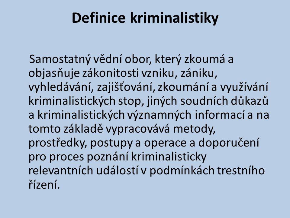 Definice kriminalistiky