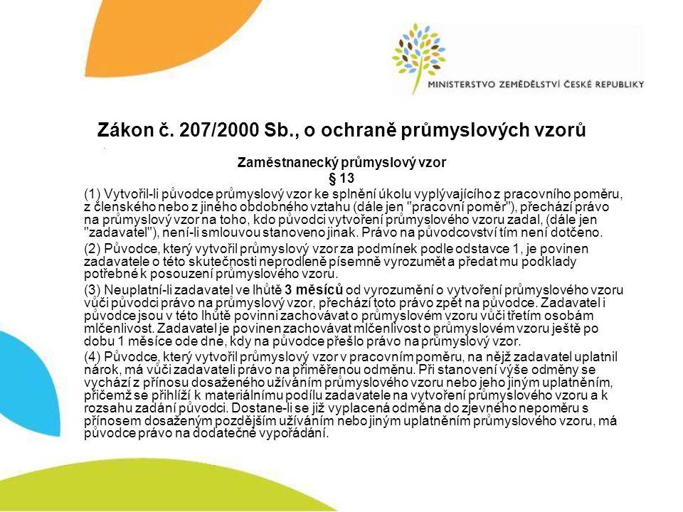 Zákon č. 207/2000 Sb., o ochraně průmyslových vzorů