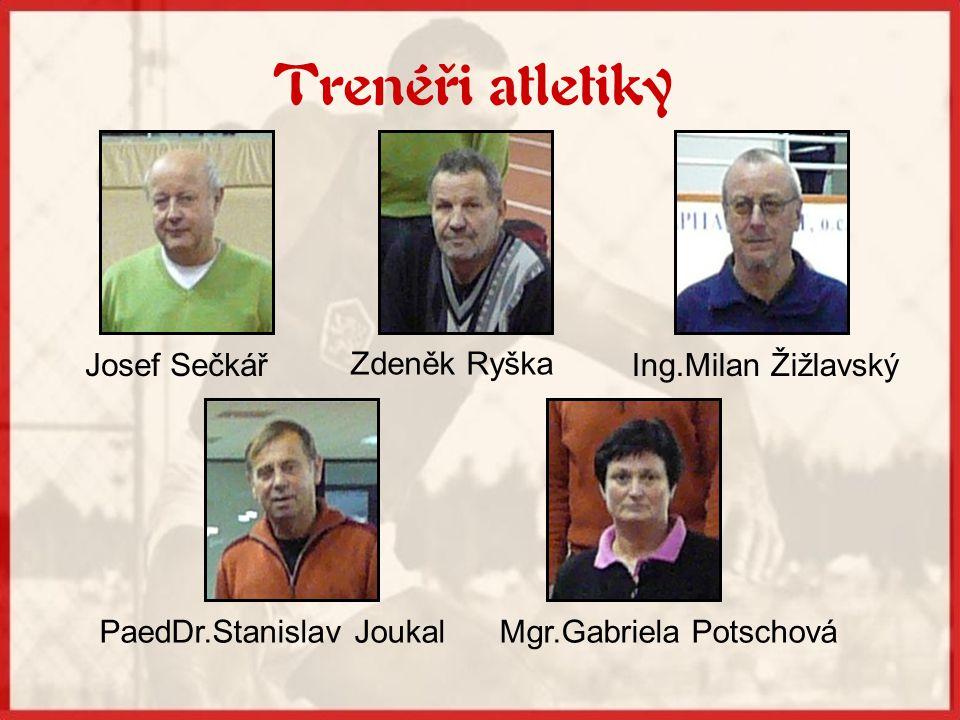 Trenéři atletiky Josef Sečkář Zdeněk Ryška Ing.Milan Žižlavský