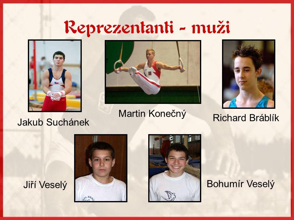 Reprezentanti - muži Martin Konečný Richard Bráblík Jakub Suchánek