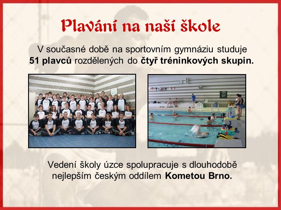 Plavání na naší škole V současné době na sportovním gymnáziu studuje