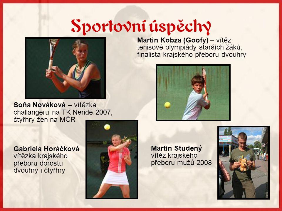 Sportovní úspěchy Martin Kobza (Goofy) – vítěz tenisové olympiády starších žáků, finalista krajského přeboru dvouhry.