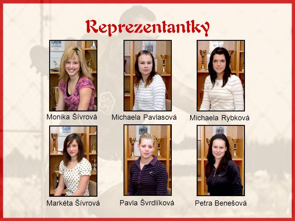 Reprezentantky Monika Šívrová Michaela Pavlasová Michaela Rybková