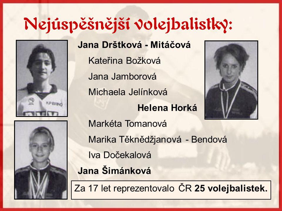 Za 17 let reprezentovalo ČR 25 volejbalistek.