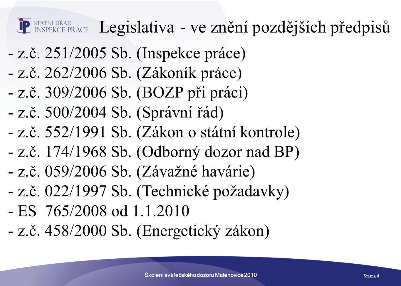 Legislativa - ve znění pozdějších předpisů