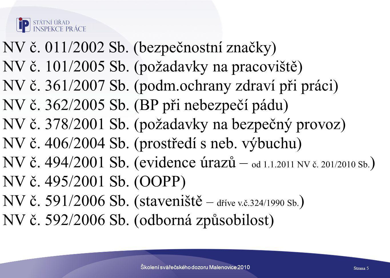 Školení svářečského dozoru Malenovice 2010