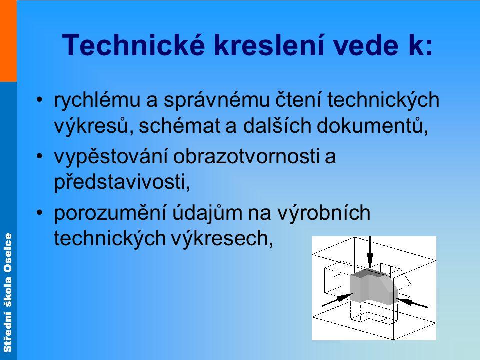 Technické kreslení vede k: