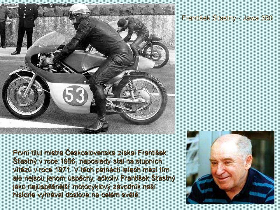 František Šťastný - Jawa 350