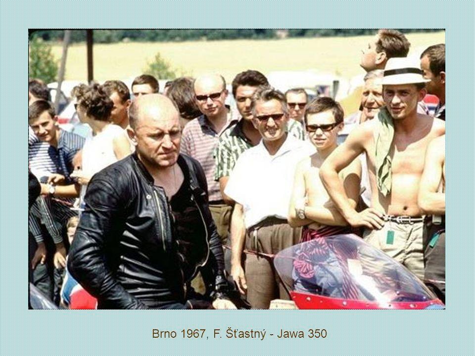 Brno 1967, F. Šťastný - Jawa 350