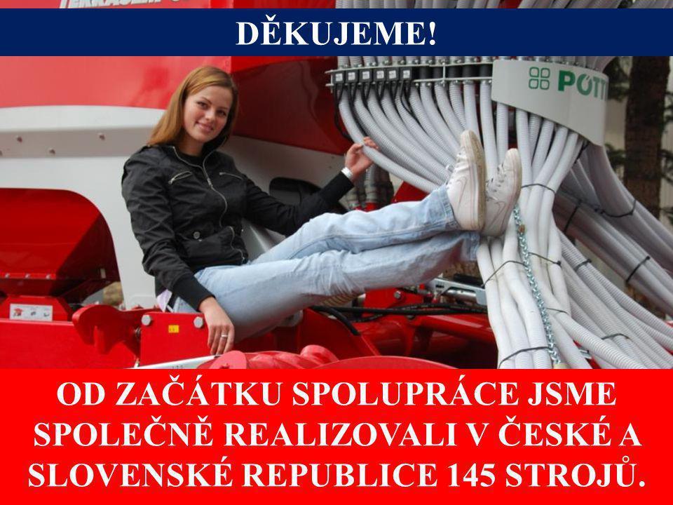 DĚKUJEME! OD ZAČÁTKU SPOLUPRÁCE JSME SPOLEČNĚ REALIZOVALI V ČESKÉ A SLOVENSKÉ REPUBLICE 145 STROJŮ.