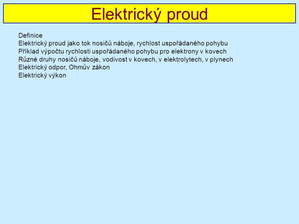 Elektrický proud Definice