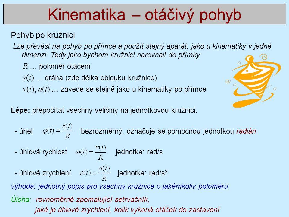 Kinematika – otáčivý pohyb