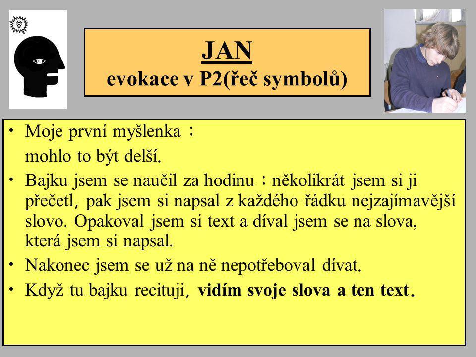 JAN evokace v P2(řeč symbolů)