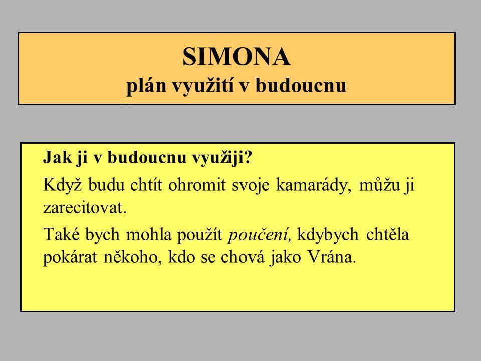 SIMONA plán využití v budoucnu