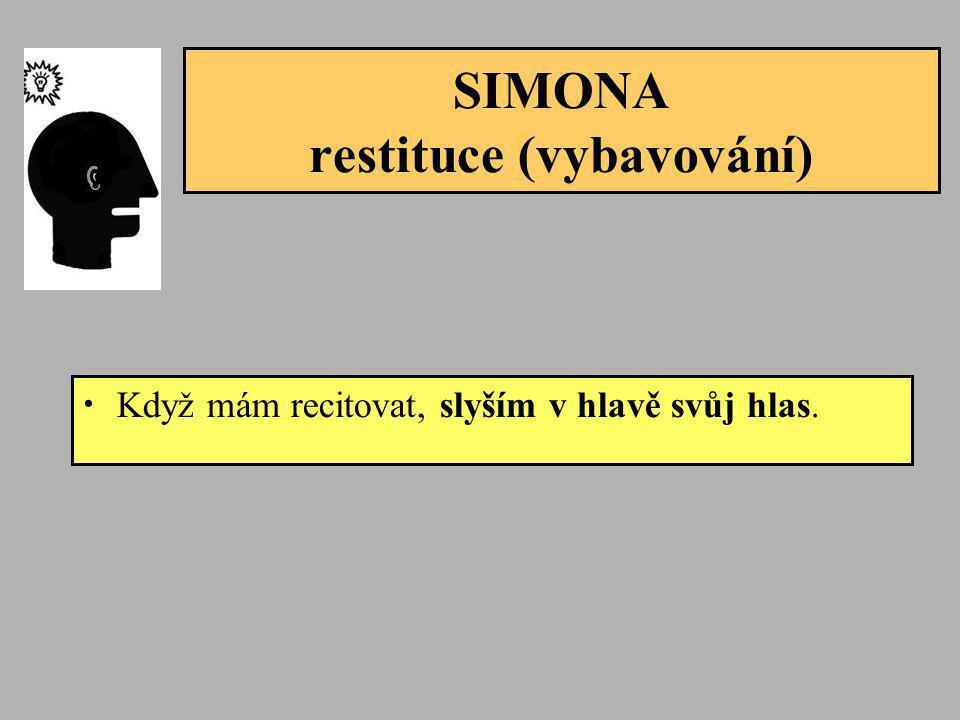 SIMONA restituce (vybavování)