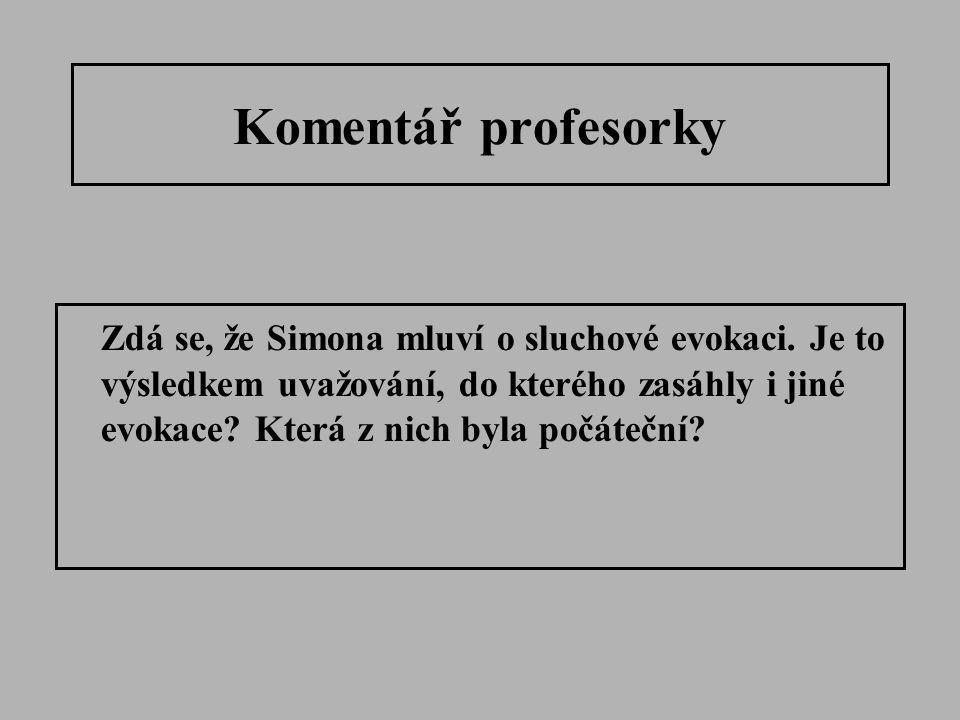 Komentář profesorky