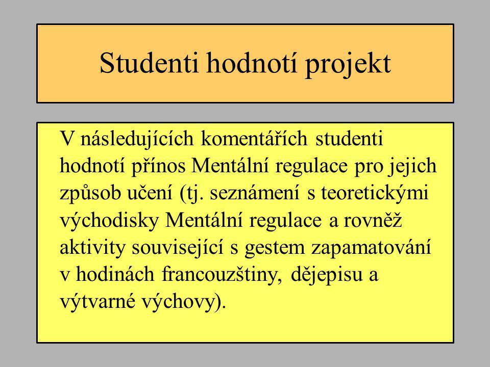 Studenti hodnotí projekt
