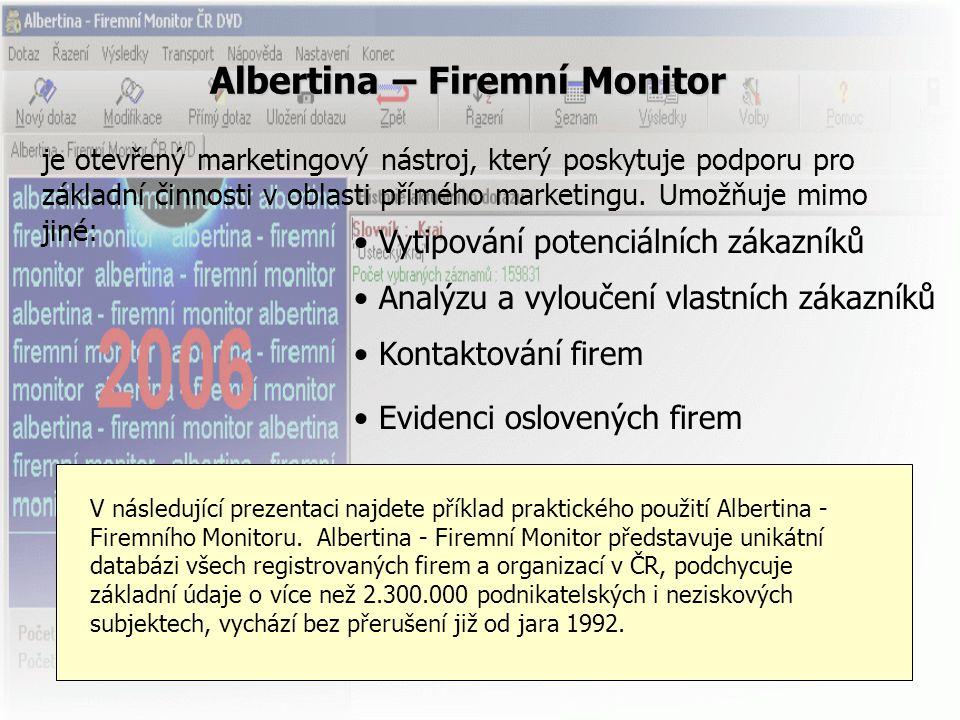 Albertina – Firemní Monitor