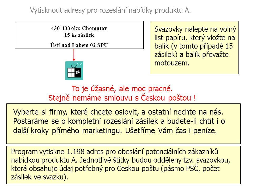430-433 okr. Chomutov 15 ks zásilek