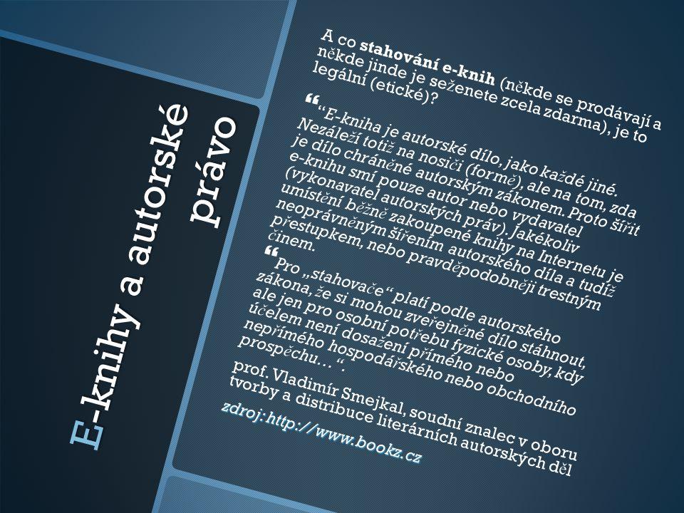 E-knihy a autorské právo
