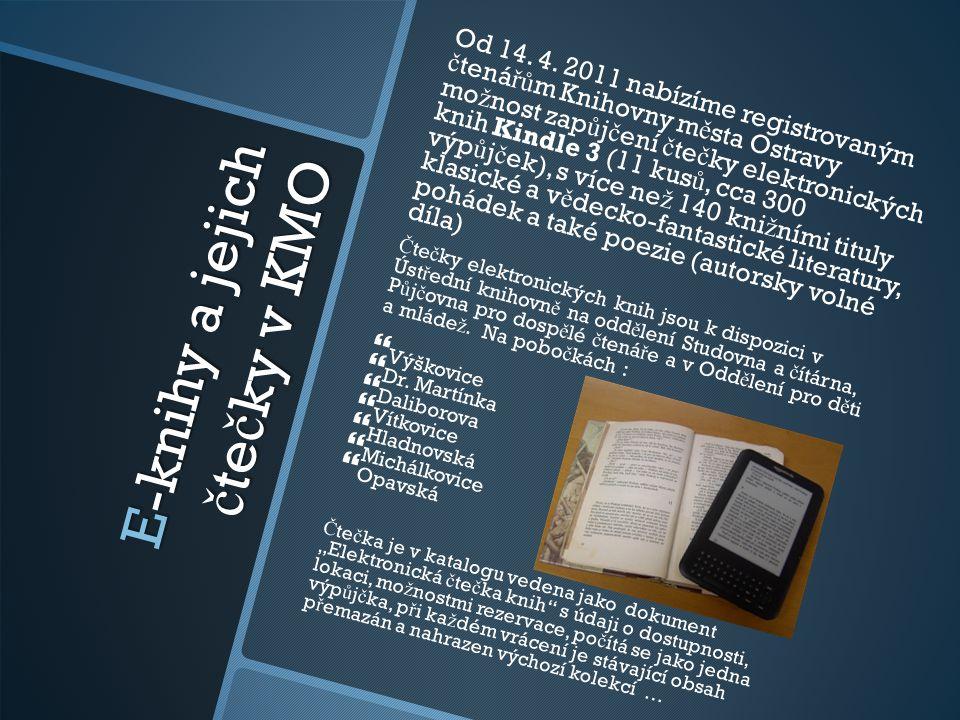 E-knihy a jejich čtečky v KMO