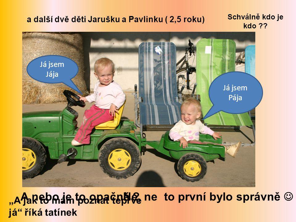 a další dvě děti Jarušku a Pavlinku ( 2,5 roku)