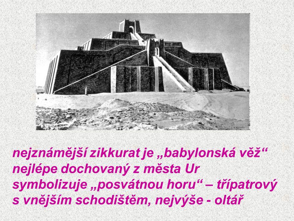 """nejznámější zikkurat je """"babylonská věž"""