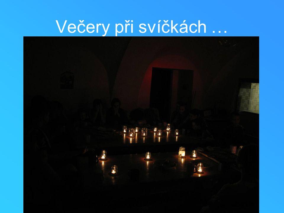 Večery při svíčkách …