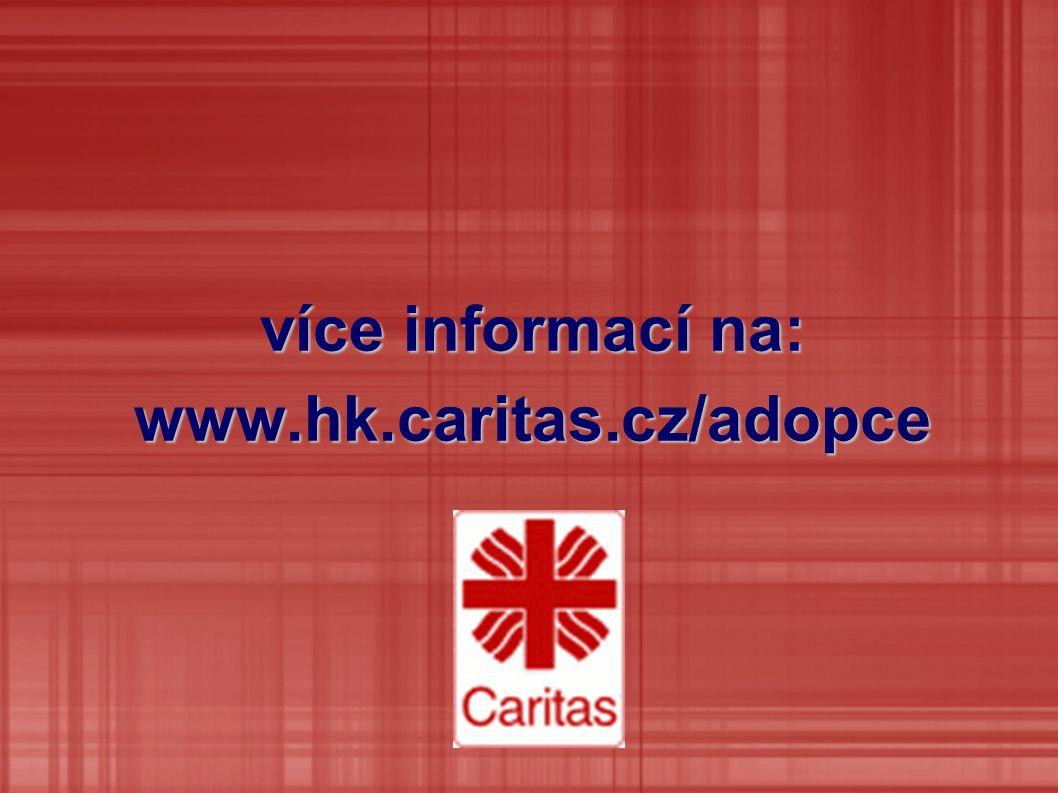 více informací na: www.hk.caritas.cz/adopce