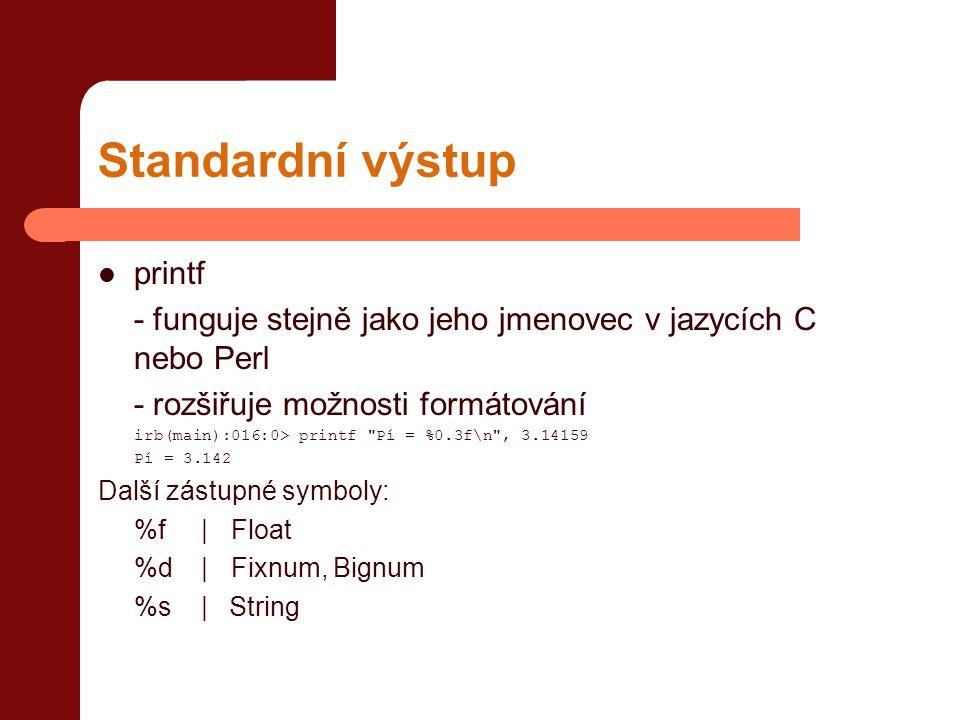 Standardní výstup printf