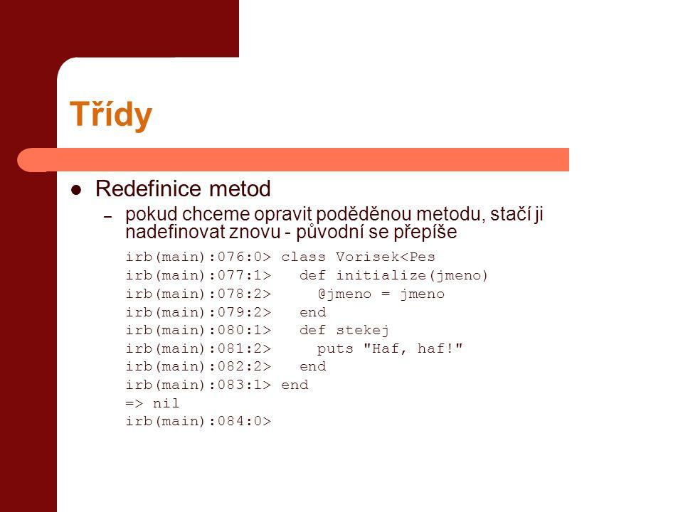 Třídy Redefinice metod