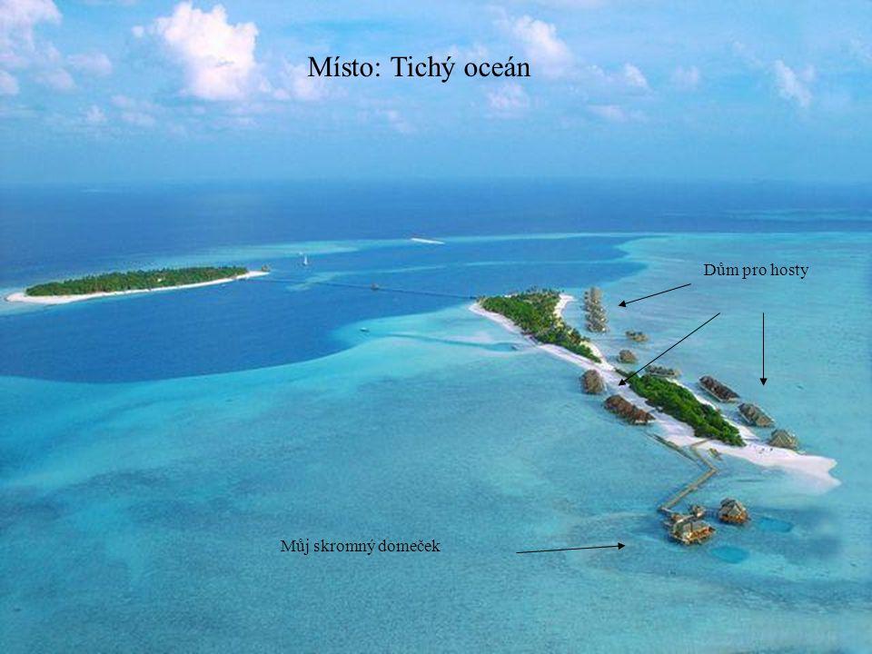 Místo: Tichý oceán Dům pro hosty Můj skromný domeček