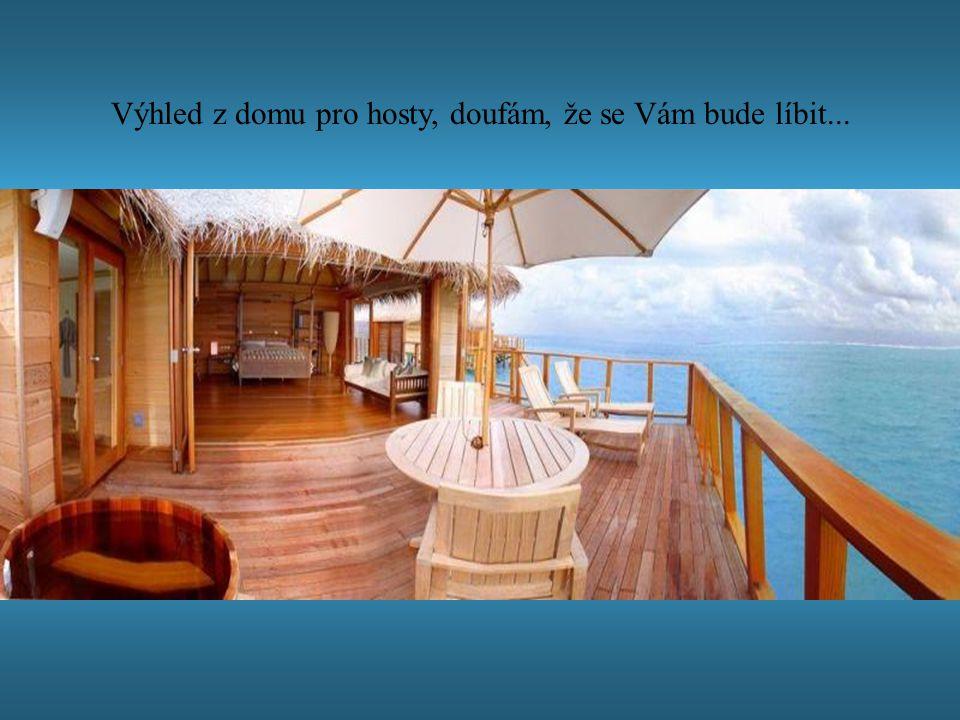 Výhled z domu pro hosty, doufám, že se Vám bude líbit...