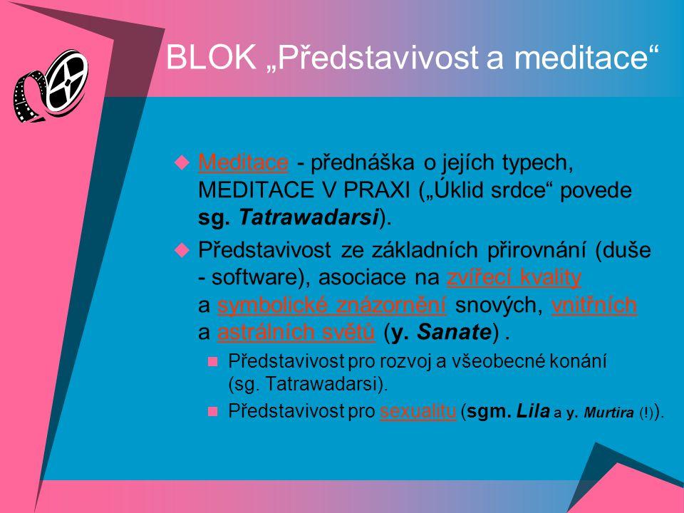 """BLOK """"Představivost a meditace"""
