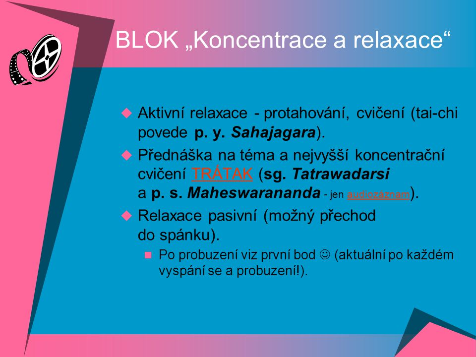 "BLOK ""Koncentrace a relaxace"