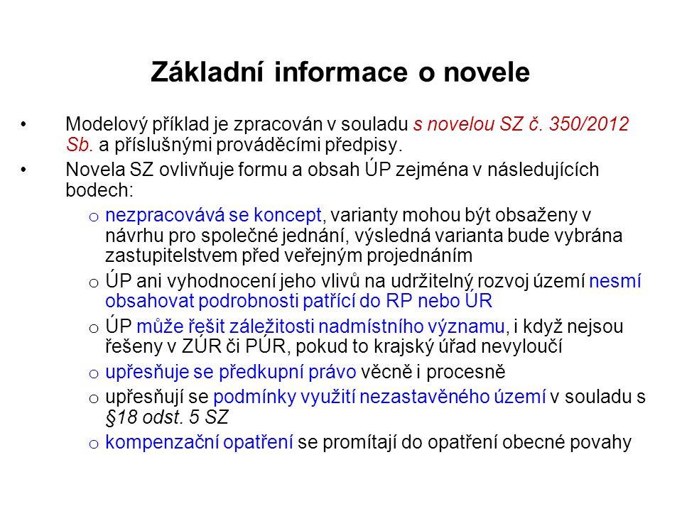 Základní informace o novele