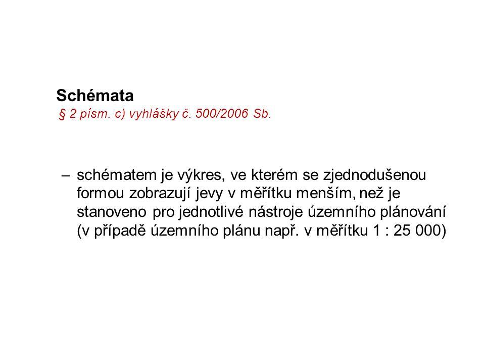 Schémata § 2 písm. c) vyhlášky č. 500/2006 Sb.