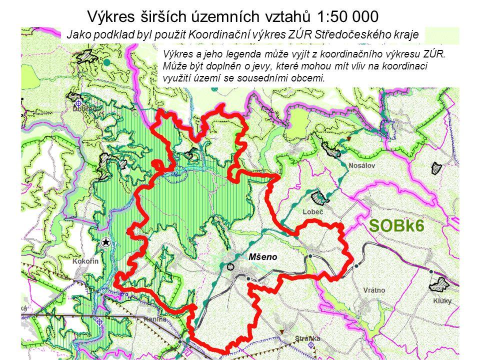 Výkres širších územních vztahů 1:50 000