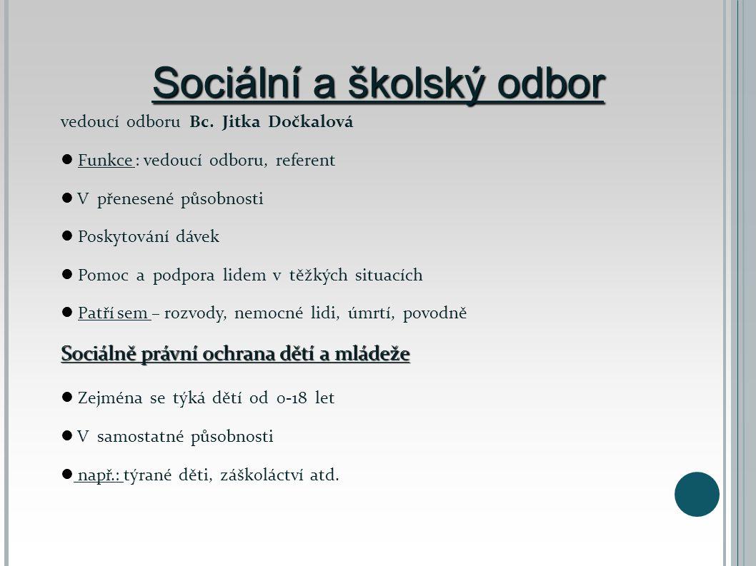 Sociální a školský odbor