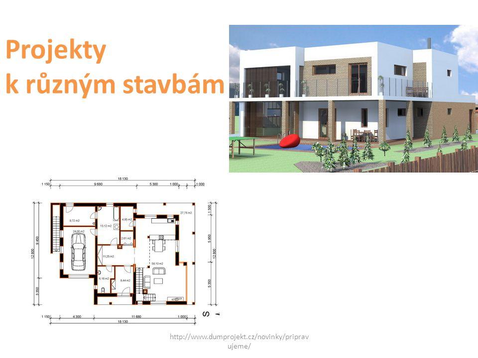 Projekty k různým stavbám