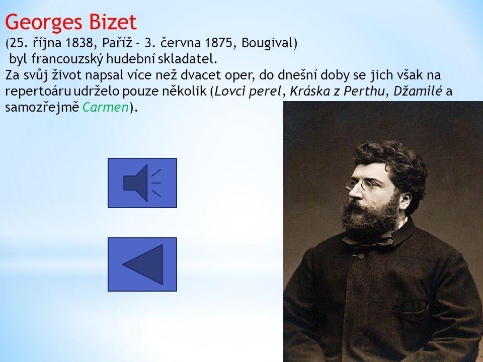 Georges Bizet (25. října 1838, Paříž - 3